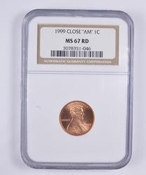 MS67 RD 1999 Lincoln Memorial Cent - Close AM - NGC Graded