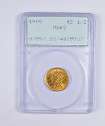 MS62 1905 $2.50 Liberty Head Gold Quarter Eagle - PCGS Rattler Upgrade?