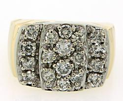 Amazing Gents Diamond Cluster Ring