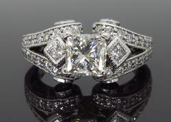 18K White Gold 2.32CTW Diamond Ring