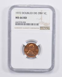 MS66RD 1972 Lincoln Memorial Cent - Double Die Obverse - NGC Graded
