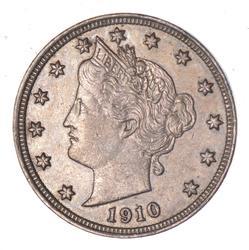 1910 Liberty V Nickel - Circulated