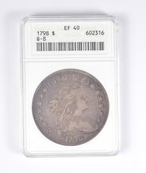 1798 Draped Bust Silver Dollar - ANACS Extra Fine