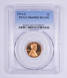 PR69RD DCAM 1974-S Lincoln Memorial Cent - PCGS Graded