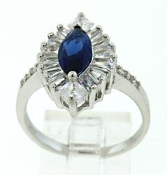 Sapphire and Cubic Zirconia Ring