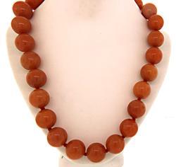 Orange Bead Necklace