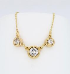 14K Yellow Gold .90CTW Diamond Necklace