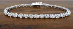 18K White Gold 4.25ctw Diamond Tennis Bracelet