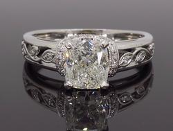 18K White Gold Simone G 1.37CTW Diamond Ring