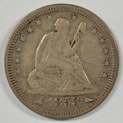 Scarcer 1853 Arrows & Rays Liberty Seated Quarter