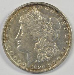 The Rare 1894-P Morgan Silver Dollar in nice condition