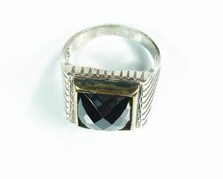 Attractive Large GEM 925 Silver Gents Ring