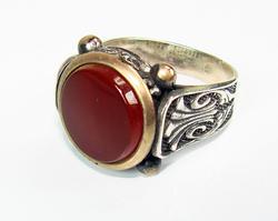 Charming & Impressive Large GEM 925 S Gents Ring