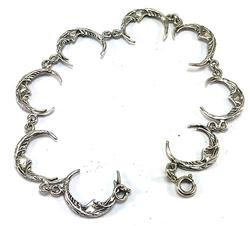 Charming Moon Style Sterling Silver Bracelet