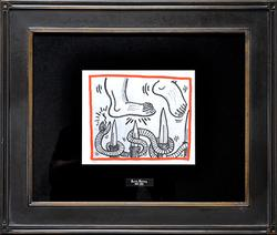 Keith Haring Lithograph Circa 1990