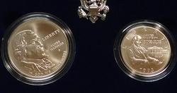2 pc set, 1993 Unc Bill of Rights Silver Dollar/Half