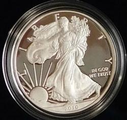 2010 PROOF Silver Eagle - Mint box & documentation