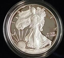 2017 PROOF Silver Eagle - Mint box & documentation