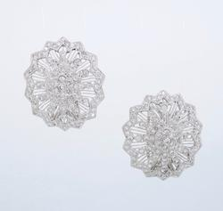 2.17CTW Diamond Earrings, Omega Back, 18K