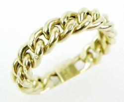 14K Gold Open Link Ring