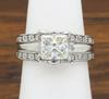 Platinum 1.75CTW Princess Cut Diamond Ring