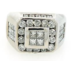 Amazing Gents Multi Diamond Ring in 18K