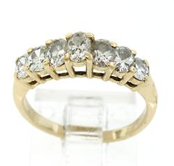 Radiant 7 Diamond Pyramid Style Ring