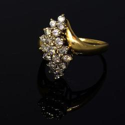 3/4 CT Diamond Cluster Ring in Gold