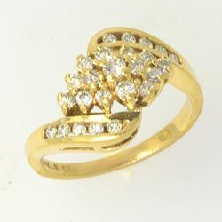 Briliant .30 CTW Diamond Cluster Ring