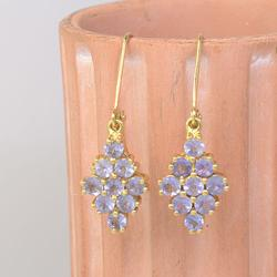 Lavender Gemstone 14KT Gold Earrings