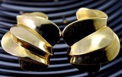 Elegant 14K Omega Clip Earrings