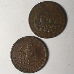 1833 HT 70 and 1841 Hard Times Token HT 20