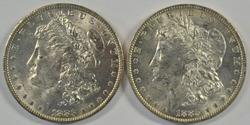 Fresh BU 1883-O & 1884-O Morgan Silver Dollars