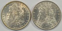 Fresh BU 1883-O & 1884-O Morgan Silver Dollars
