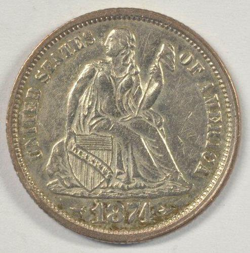 Better date near BU 1874 w/ Arrows Liberty Seated Dime