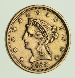 1852 $2.50 Liberty Head Gold Quarter Eagle - Circulated