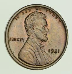 1921 Lincoln Wheat Cent - Not Circulated
