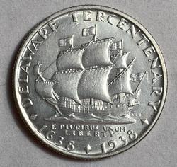 Gorgeous 1938 Delaware Commem Half Dollar, UNC