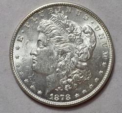 1878 7/0TF VAM 30A Extra Talons Morgan Silver Dollar, UNC