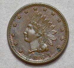 Gorgeous UNC 1863 Civil War Token