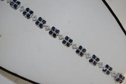 Sapphire & Diamond Bracelet in 14K White Gold