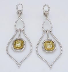 Luxurious Designer Diamond Chandelier Earrings