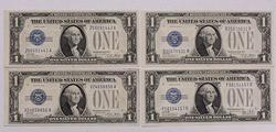 AU/BU 1928A & B $1 Silver Cert Lot