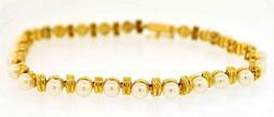 14kt Gold Pearl Bracelet