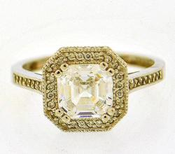 14kt Gold Cubic Zirconia Ring