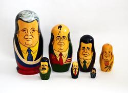 1990's 7 Pc Soviet Political Leaders Nesting Dolls