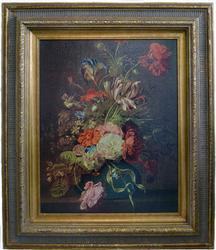 Still Live Lithograph on Canvas, Dutch Rachel Ruysch