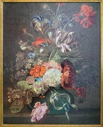 Still Live by Dutch Rachel Ruysch, Lithograph on Canvas