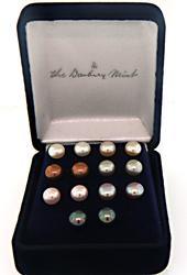 Sterling Silver Pair of 7 Pearl Earrings
