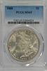 Super Gem BU 1888 Morgan Silver Dollar. PCGS MS65